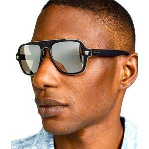 Versace gold mirror sunglasses